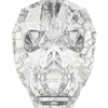 Swarovski Bead 5750 Skull 13mm Patina Silver Crystal